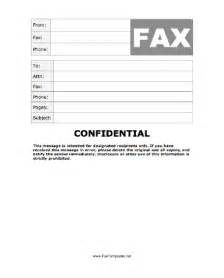 Cover Letter Confidential by Confidential Fax Template