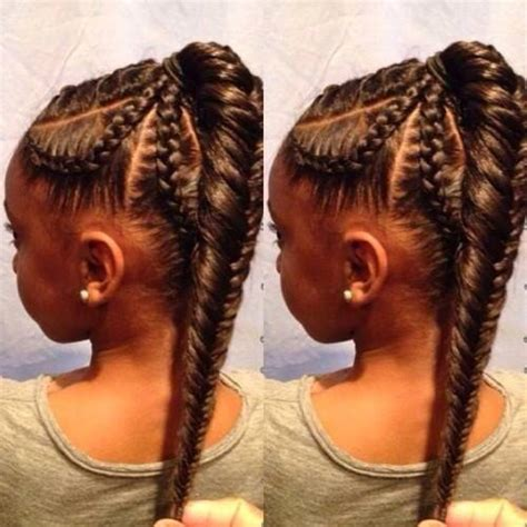 braids little girl hairstyles fish tail braid black