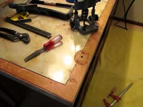 how to remove a laminate on particleboard vanity or