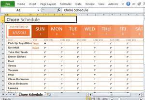 house chore schedule template weekly chore schedule organizer for excel
