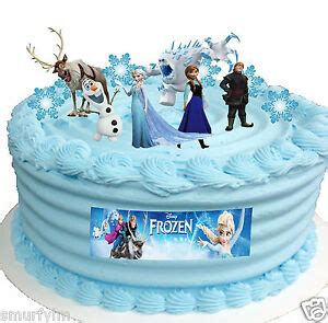 frozen disney elsa birthday party cup cake toppers stand  edible wafer card  ebay