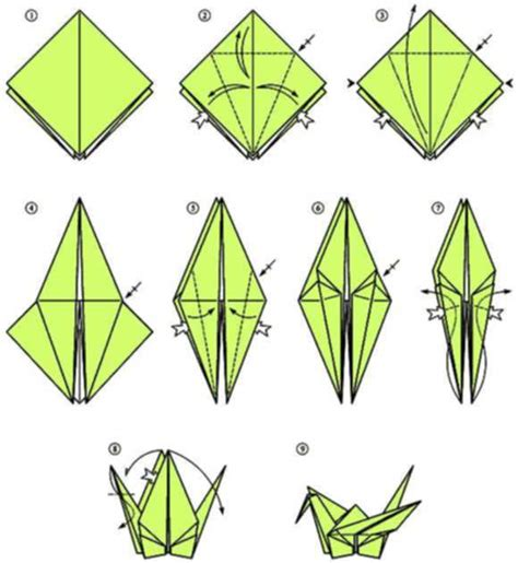 Printable Origami Crane - to make a crane origami origami easy