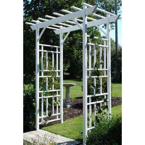 White Metal Garden Trellis Arbors Trellises Garden Center The Home Depot