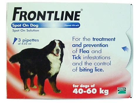 spot on treatment frontline spot on flea treatment 40 60kg