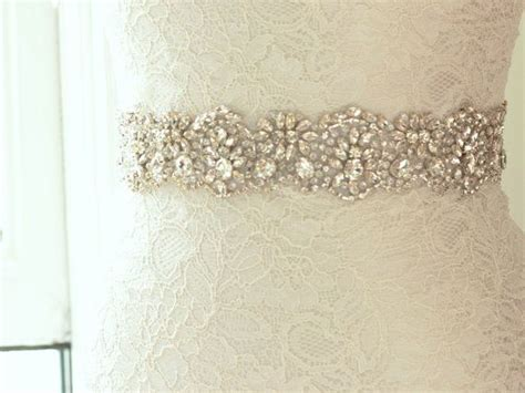 rhinestone bridal sash beaded wedding dress belt
