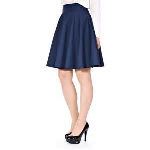 womens retro feminine high waist a line flared