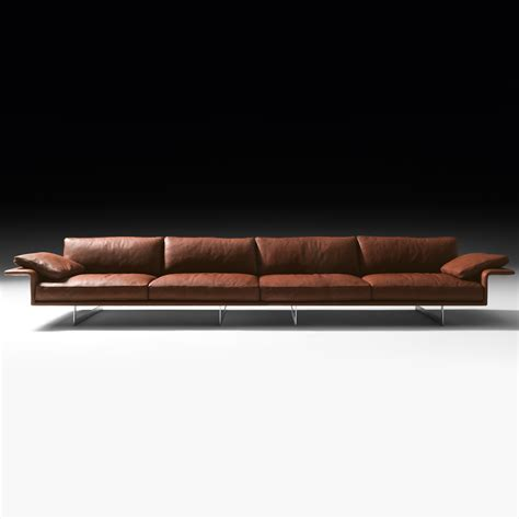 Large Leather Sofa Large Leather Contemporary Italian Sofa