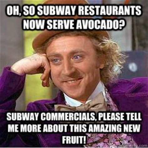 Subway Sandwich Meme - avocado jokes kappit