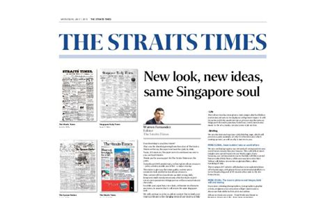 straits times sections straits times undergoes sg 1 6 mln rev erects paywall
