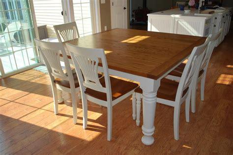 Square Dining Room Table For 8 by Easy Diy Modern Square Farmhouse Dining Table With Oak Top
