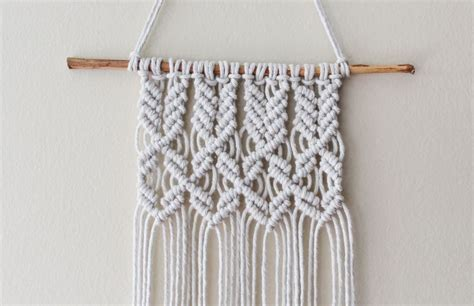 Macrame Knots Patterns - detail mini macrame wall hanging 1 of 1 macram 233