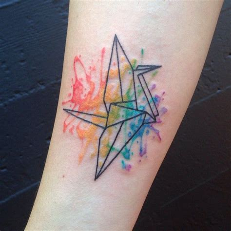 origami crane tattoo 17 best ideas about paper crane on