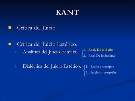 critica del juicio 8430946500 la est 233 tica desde la perspectiva de kant
