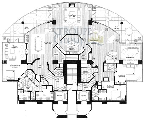 luxury penthouse floor plans escala floorplans