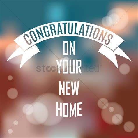 congratulations on your new home vector image 1827438