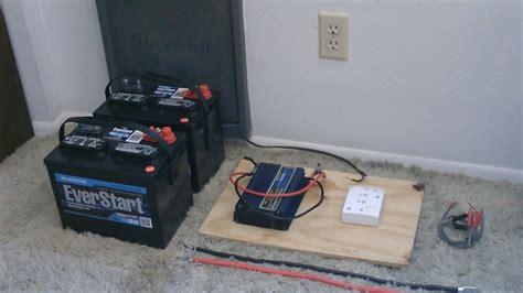 hook  solar panels  battery bank simple