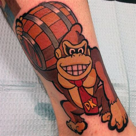 donkey kong tattoo 40 kong designs for retro gamer ink ideas
