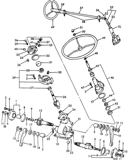 ford 5000 power steering diagram ford 4000 tractor parts diagram automotive parts diagram