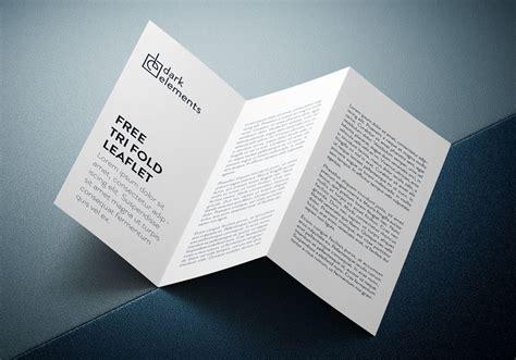 Three Fold Paper - tri fold brochure us letter mockup mockupworld