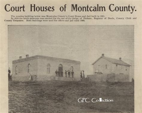 Montcalm County Court Records Montcalm County Court House History