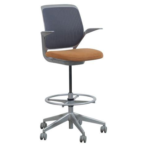 Steelcase Cobi Stool by Steelcase Cobi Used Gray Mesh Stool Orange Seat National Office Interiors And Liquidators