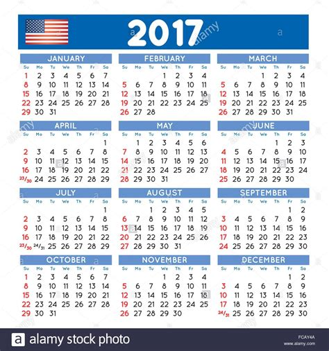 colorful calendar for 2017 vector free download