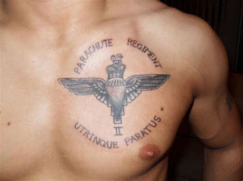 british army tattoos designs parachute regiment uktv parachute