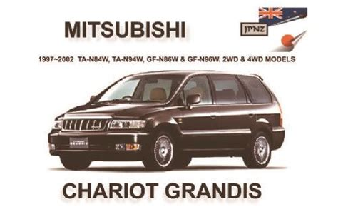 motor repair manual 1985 mitsubishi chariot navigation system mitsubishi chariot grandis 1997 2002 owners manual 1869760743 9781869760748