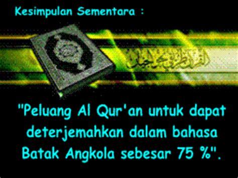 Biarkan Al Quran Menjawab Amin Sumawijaya galeri quot mtq quot nusantara al qur an dalam terjemahan bahasa batak angkola