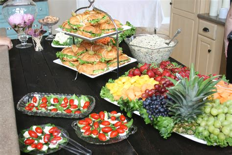 food for lunch bridal shower pretty display of luncheon or shower food pretty food