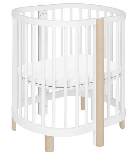 Bassinet To Crib Convertible Babyletto Hula Convertible Oval Crib Mini Bassinet White Washed