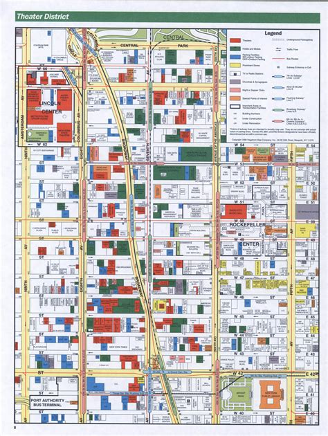 district map of nyc theater district manhattan map