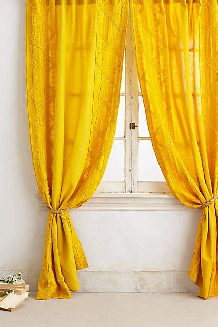 yellow lace curtains appliqued lace curtain want need love pinterest