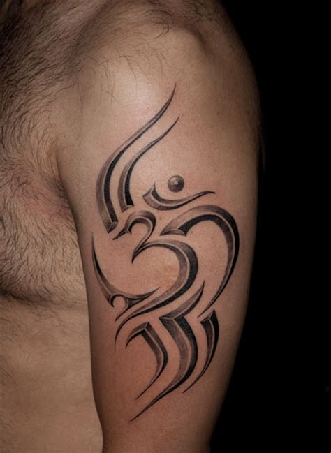tattoo name kiran tattoos designs pictures and ideas tribal om tattoo on bicep