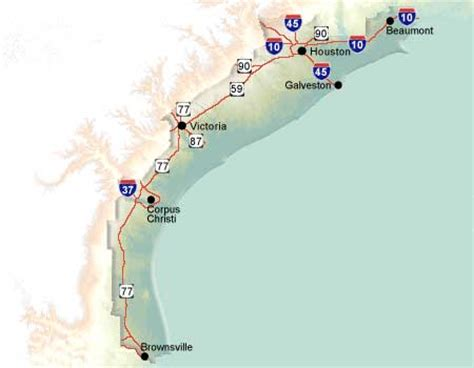 map of texas gulf coast region gulf coast region texas