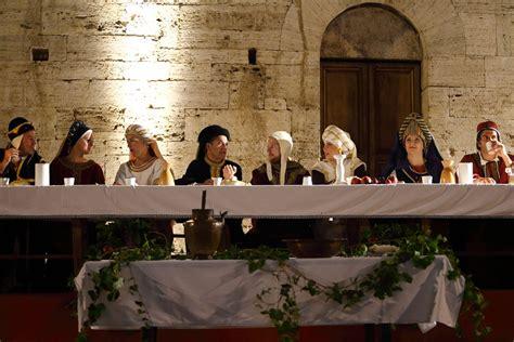 banchetto medievale banchetto medievale il podest 224 angelo santificetur e il