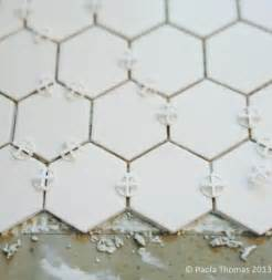 Craftsman House Remodel Hexagon Tiles