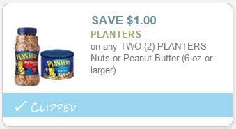 new 1 00 2 planters peanut butter coupon