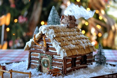 gingerbread log cabin template three pixie gingerbread log cabin
