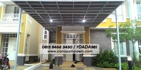 Paket Kanopi Baja Ringan Atap Alderon Ukuran 25 M2 go green canopy modern