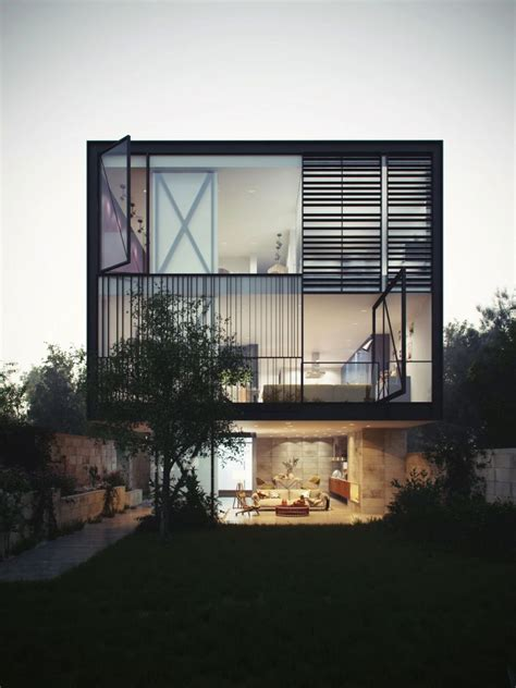glass box architecture glass box home blends audacious design with innovative