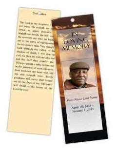 memorial bookmarks template free 1000 images about planning a funeral on