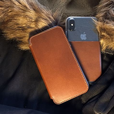 Nomad Clear For Iphone X Brown Original nomad clear and clear folio iphone x review