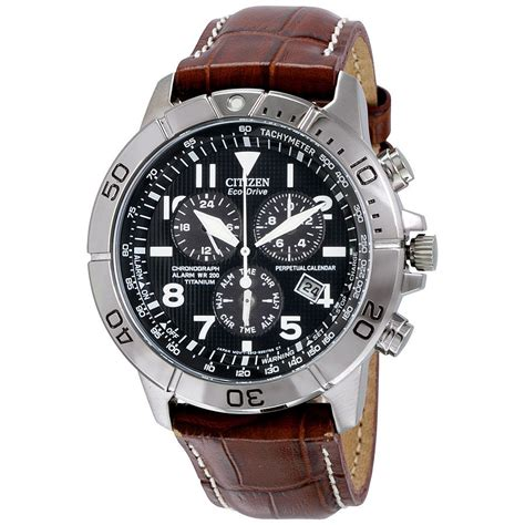 Hd Leather Chrono citizen eco drive perpetual calendar chronograph mens