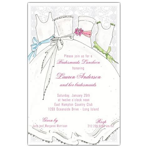 Bridal Party Bridesmaids Luncheon Invitations Paperstyle Bridesmaid Luncheon Invitations Template