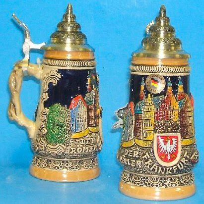 steins artificial trees city of frankfurt germany stein 25l authentic steins from germany 1001beersteins