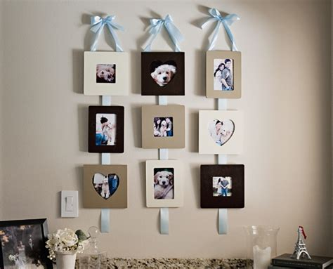 Handmade Picture Frames Ideas - make these pretty functional ribbon hanging frames fab