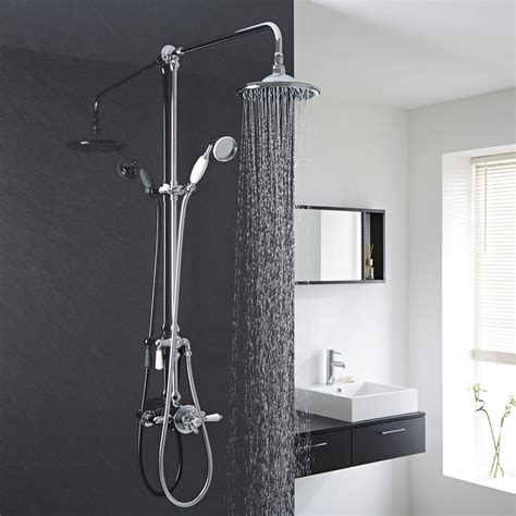 shower doccia traditional exposed dual thermostatic shower
