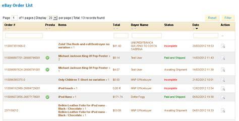 ebay orders prestabay prestashop ebay integration manage ebay orders