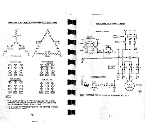 3 phase motor wiring diagram 6 wire 3 phase motor